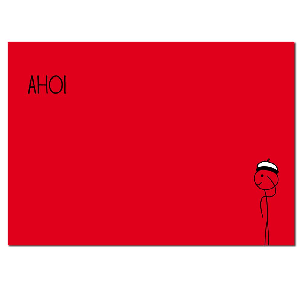 Postkarte Ahoi Hinnerk
