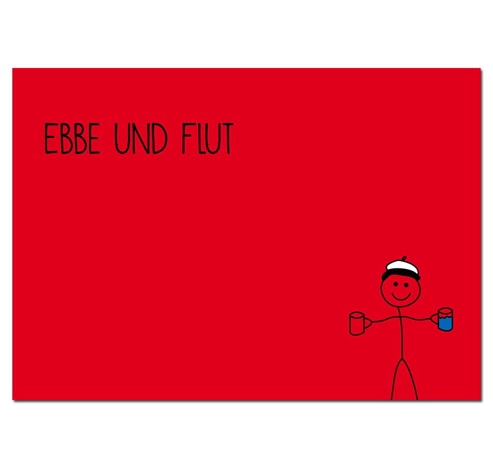 Postkarte Ebbe und Flut