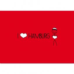 Postkarte I love Hamburg