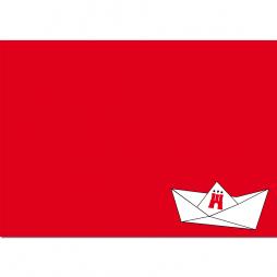 Postkarte elbkram - Papierboot