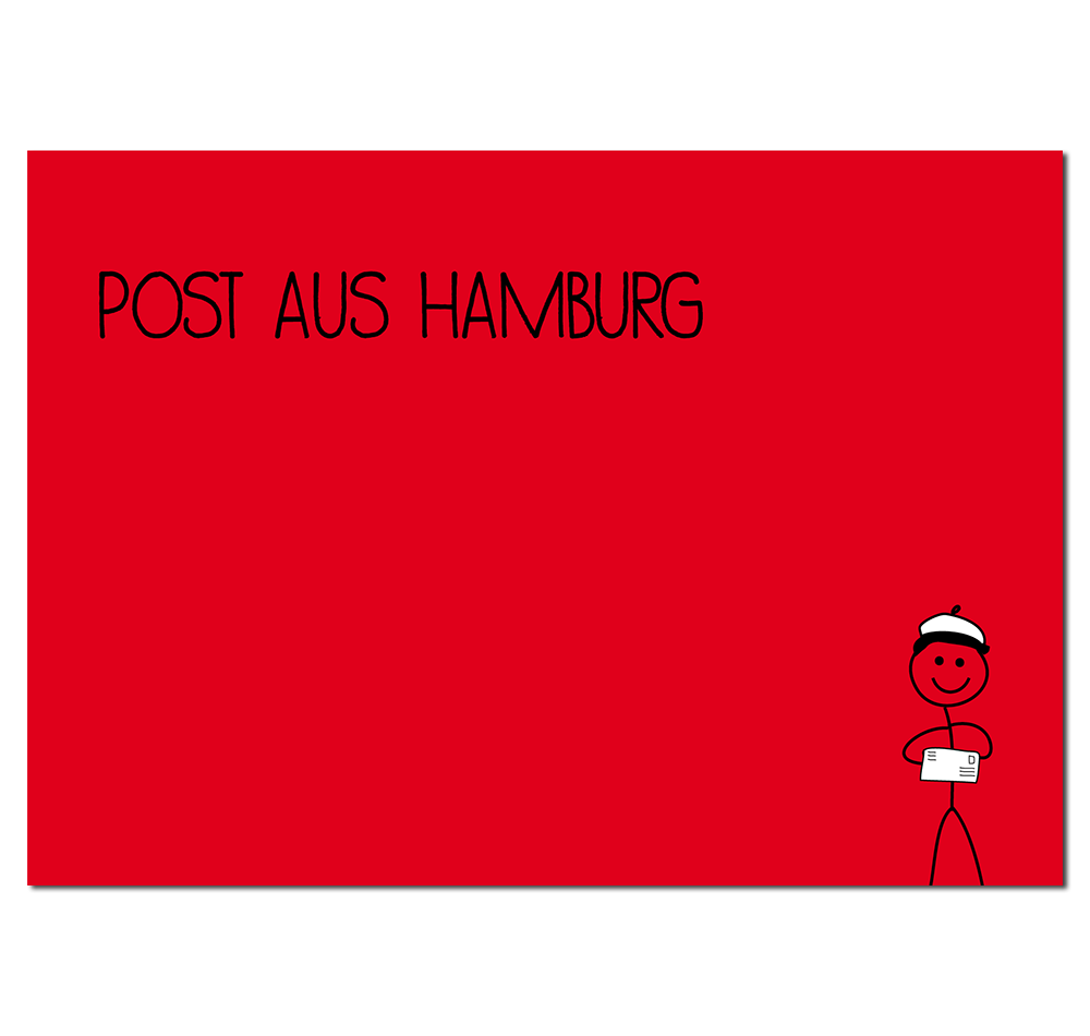 Postkarte Post aus Hamburg