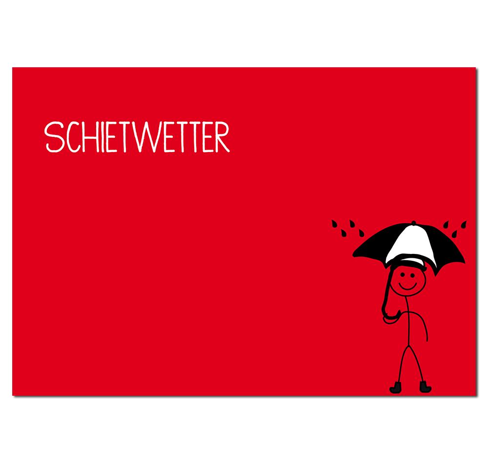Postkarte Hamburger Schietwetter