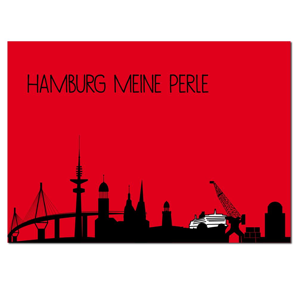 Postkarte Stadt Hamburg