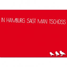 Postkarte Hamburg sagt Tschüss