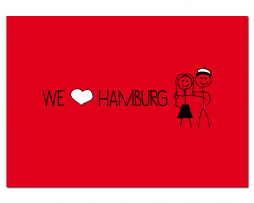 Postkarte We love Hamburg