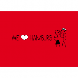 Postkarte We love Hamburg