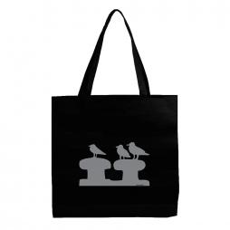 Stofftasche Elbmöwen schwarz