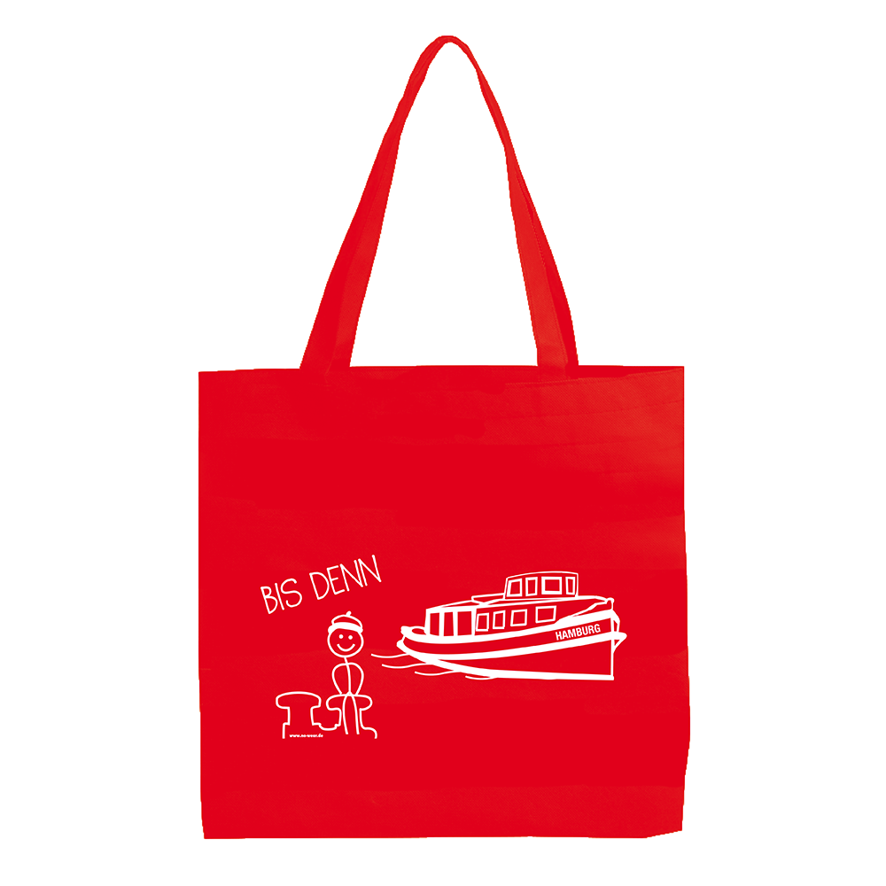 Stofftasche Bis denn rot