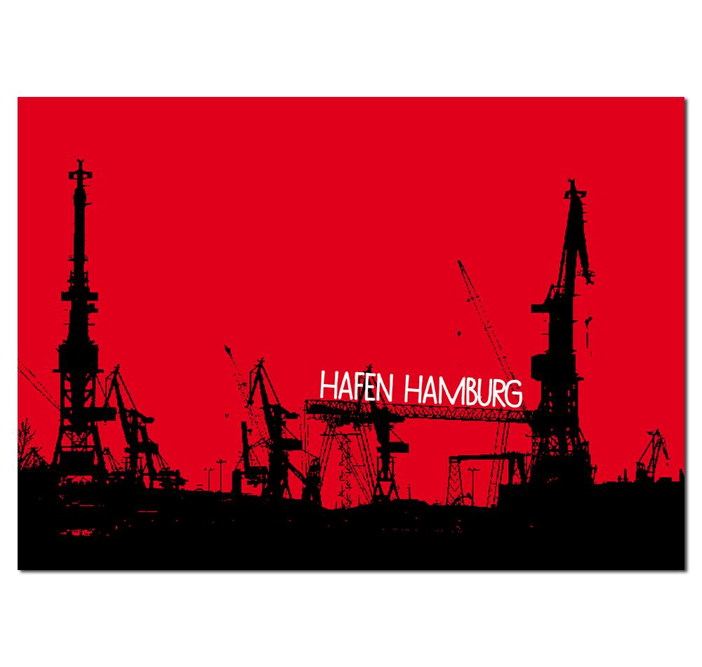 Postkarte Hafen Hamburg