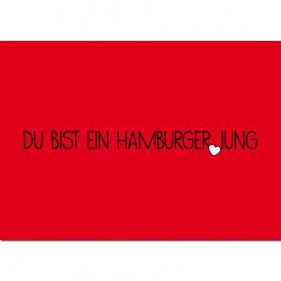 Postkarte Hamburger Jung