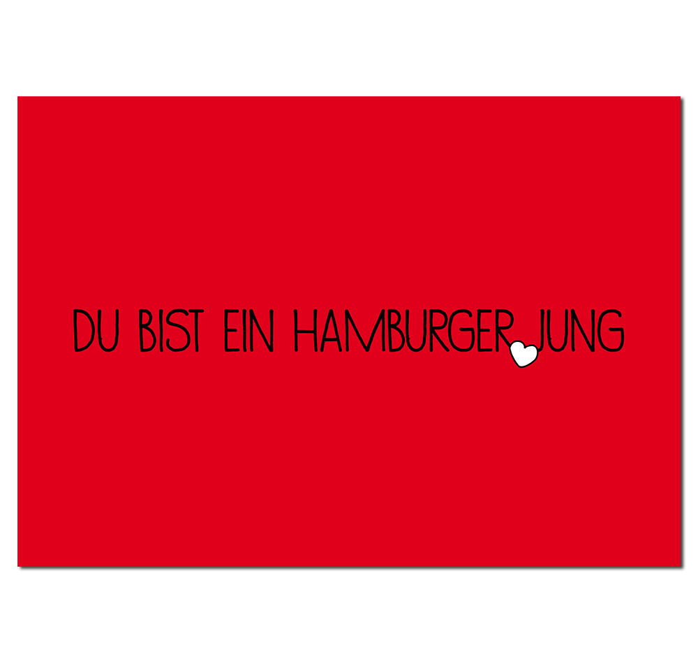 Postkarte Hamburger Jung