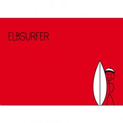 Postkarte Elbsurfer