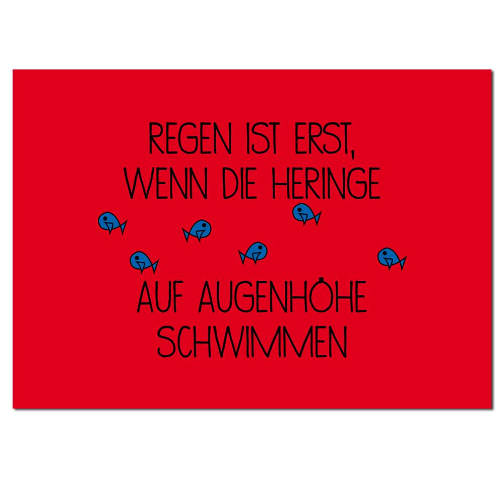 Postkarte Heringe