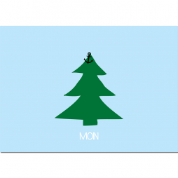 Postkarte Moin Weihnachten