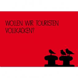 Hamburg Postkarte Möwenschnack