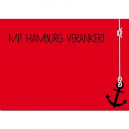 Hamburg Postkarte Verankert