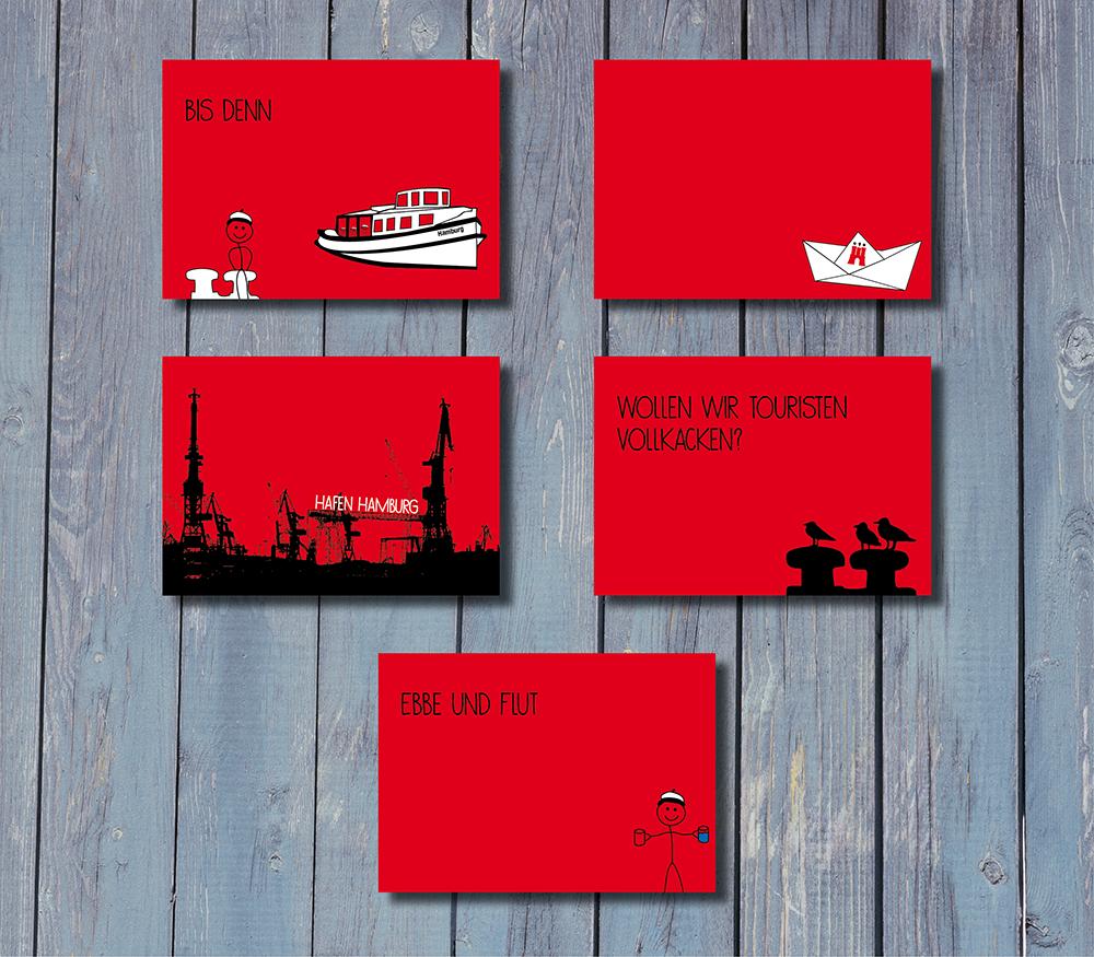 Postkartenset Hafenliebe