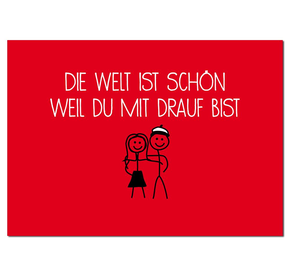 Hamburg Postkarte Die Welt mit dir