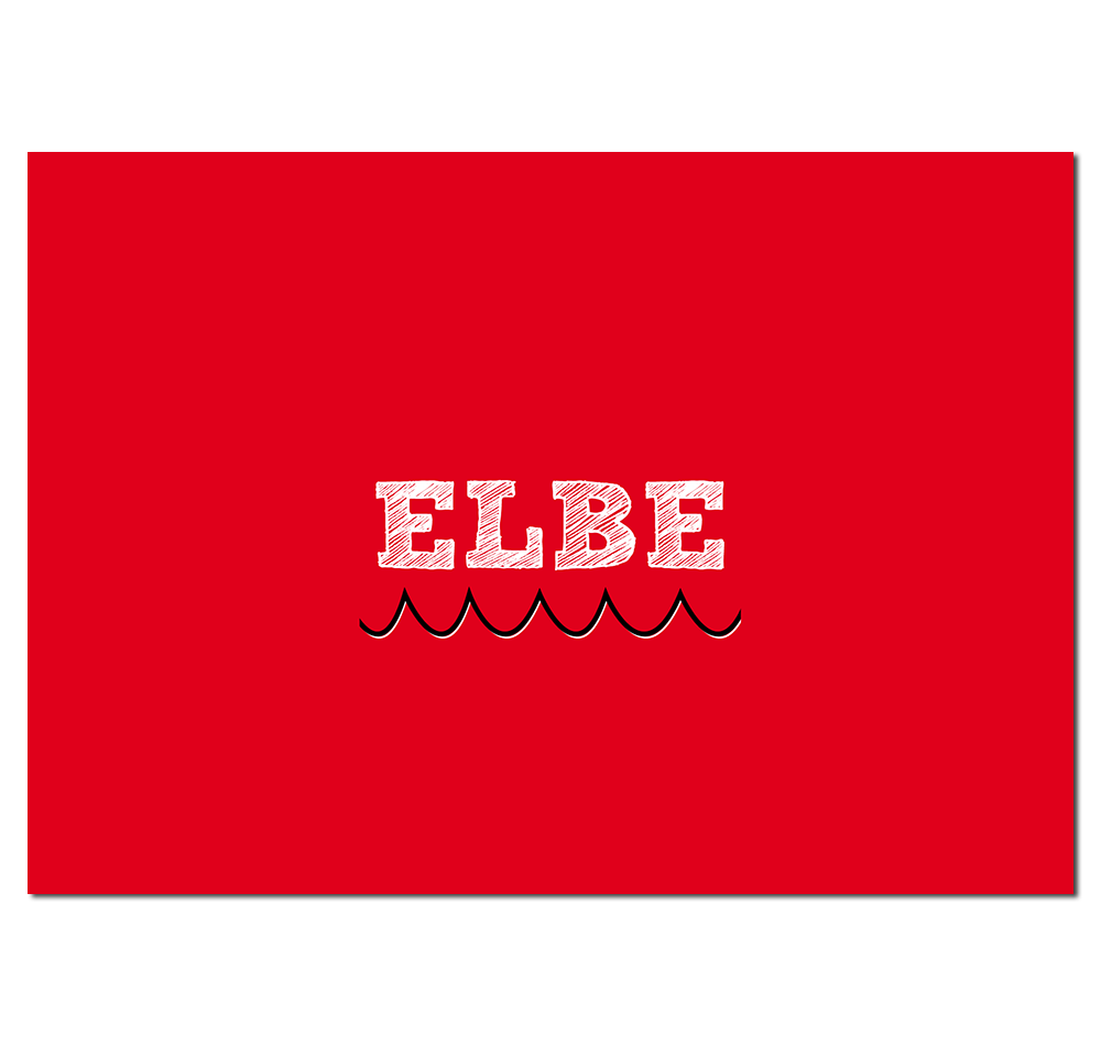 Hamburg Postkarte Elbe