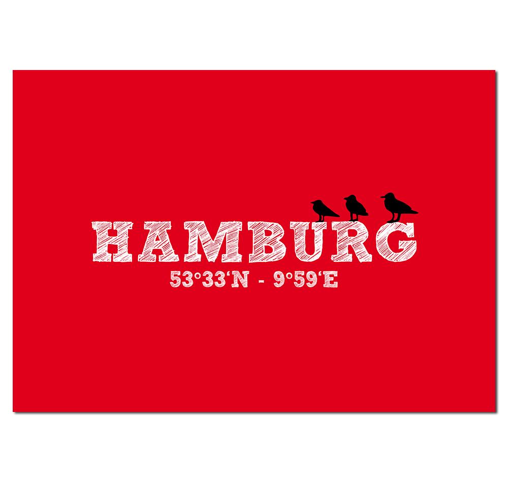 Hamburg Postkarte Koordinaten