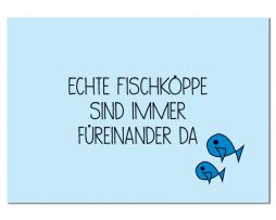 Postkarte Echte Fischköppe
