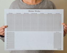 Schreibtischunterlage Mein Wochenplan