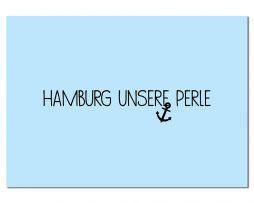Postkarte Hamburg unsere Perle