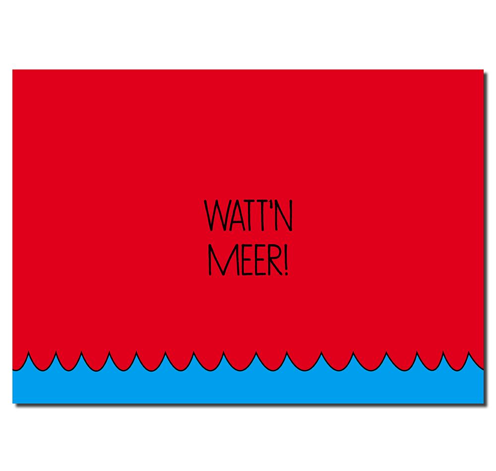 Postkarte Wattn-Meer