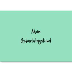 Postkarte Moin Geburtstagskind