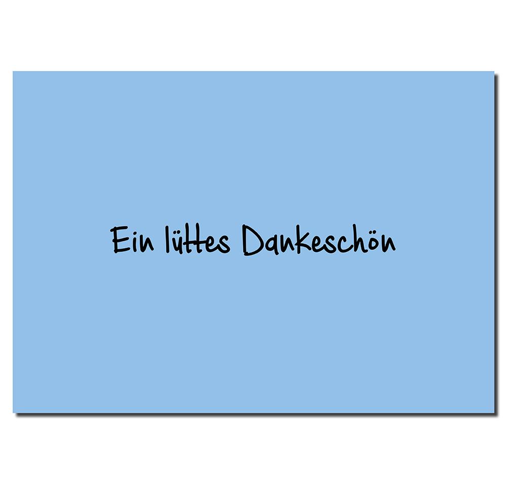 Postkarte Dankeschön