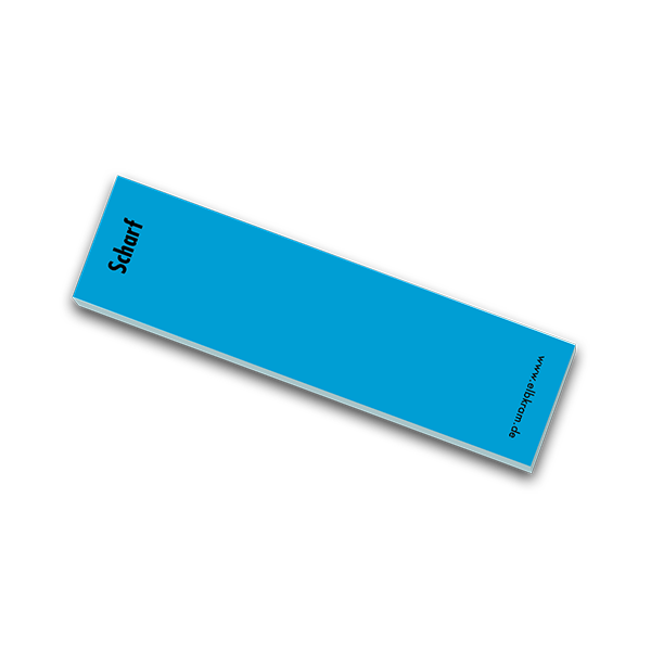 Haftnotiz Scharf